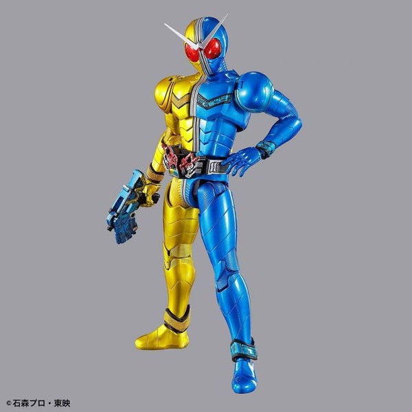 Bandai Figure Rise Standard Kamen Rider Double Luna Trigger action pose with weapon.
