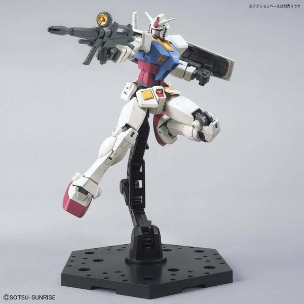 Bandai 1/144 HG RX-78-2 Gundam (Beyond Global) action pose with beam riflee