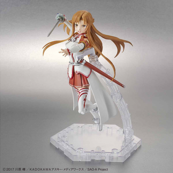 Bandai 1/144 Figure Rise Standard Asuna action pose with weapon.  2