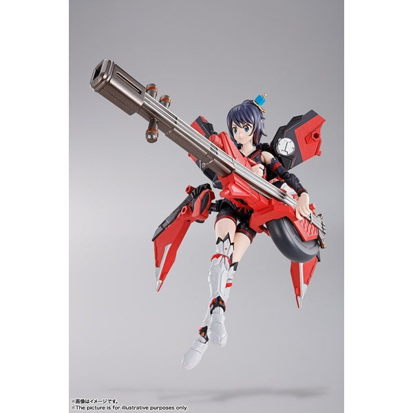 Bandai S.H Figuarts Tamashii Girl Aoi  action pose with weapon. 2