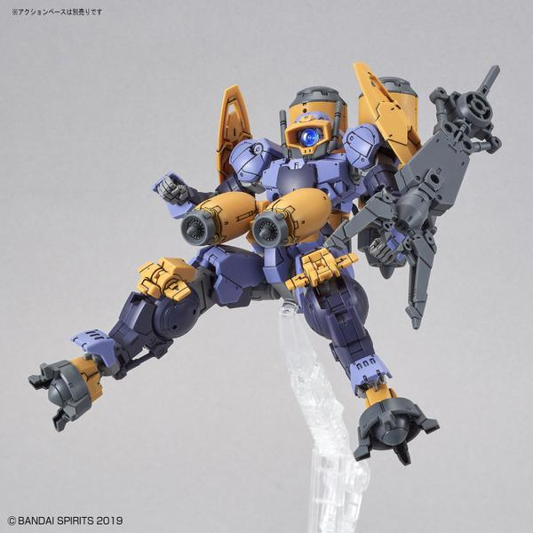 Bandai 1/144 NG 30MM BEXM-15 Portanova [Marine Type] (Purple) action pose with weapon.