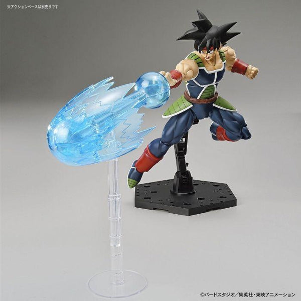 Bandai Figure Rise Standard Bardock action pose with weapon.