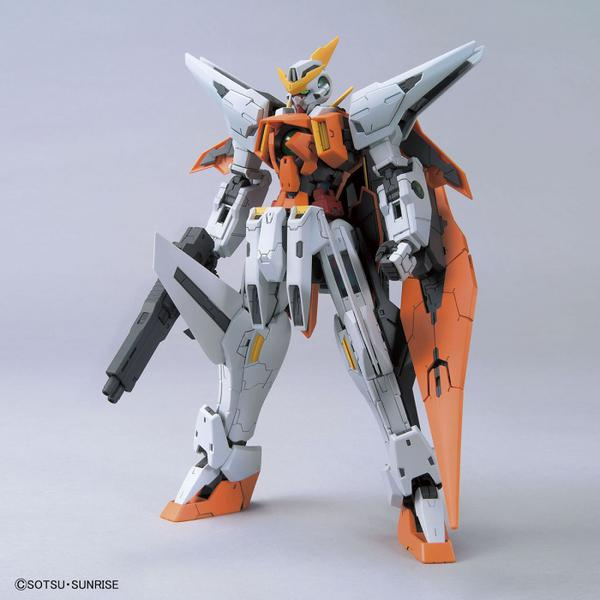 Bandai 1/100 MG GN-003 Gundam Kyrios  front on view.