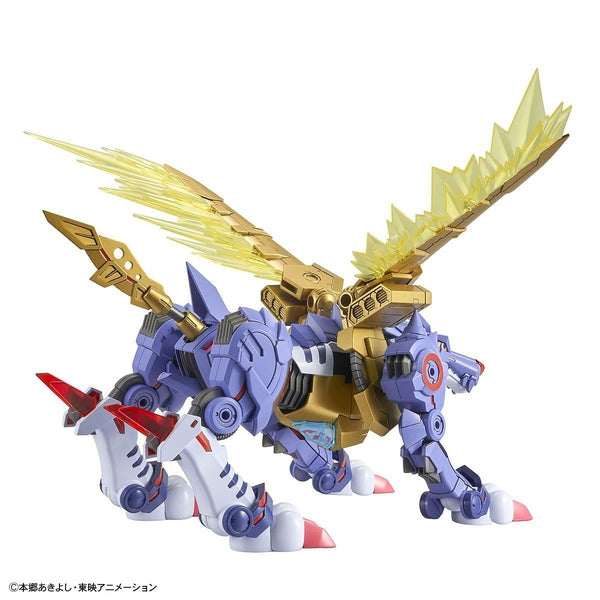 Bandai Figure Rise Standard Metalgarurumon rear view.