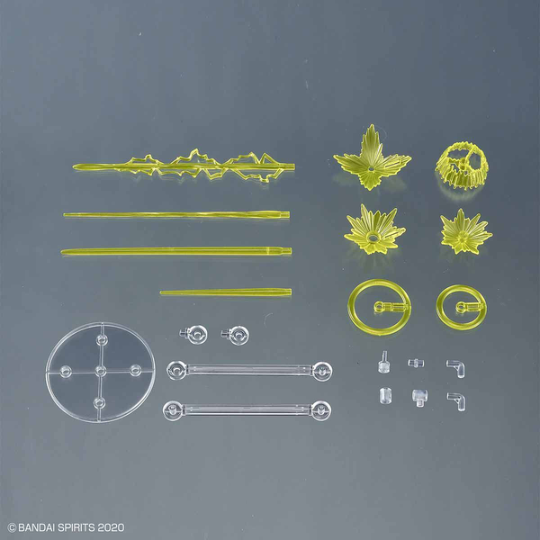 Bandai 1/144 30MM Customise Effect (Gunfire Image Ver. Yellow) inclusions