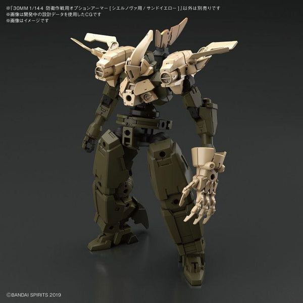 Bandai 1/144 NG 30MM Option Armour for Defense Operations (Sand Yellow) example use 1