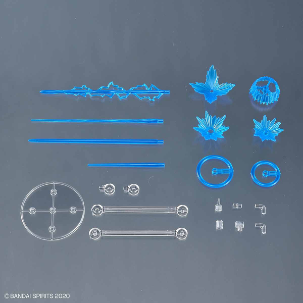 Bandai 1/144 30MM Customise Effect (Gunfire Image Ver. Blue) inclusions
