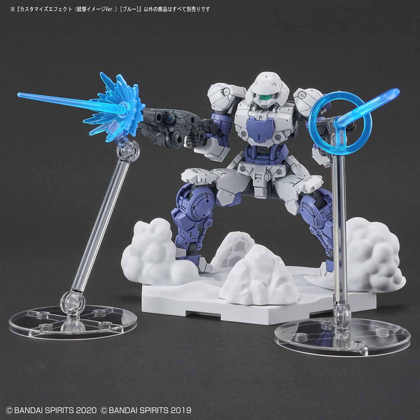 Bandai 1/144 30MM Customise Effect (Gunfire Image Ver. Blue) example use  3