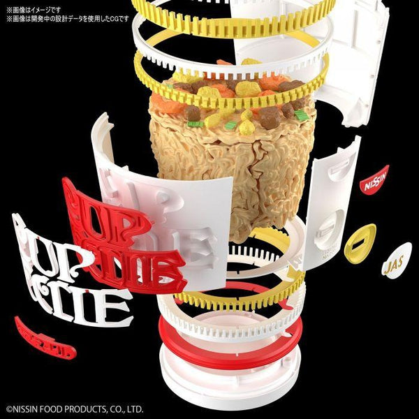 Bandai 1/1 Best Hit Chronicle Cup Noodles close up of cup contruction