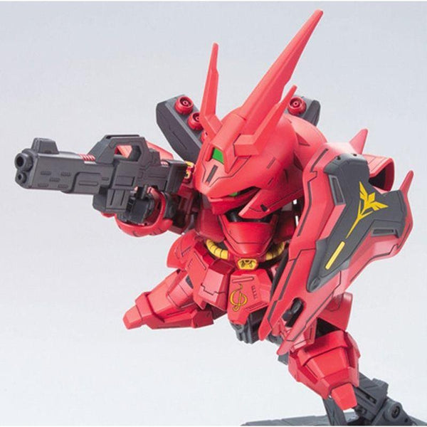 Bandai 1/144 BB382 Sazabi action pose 1