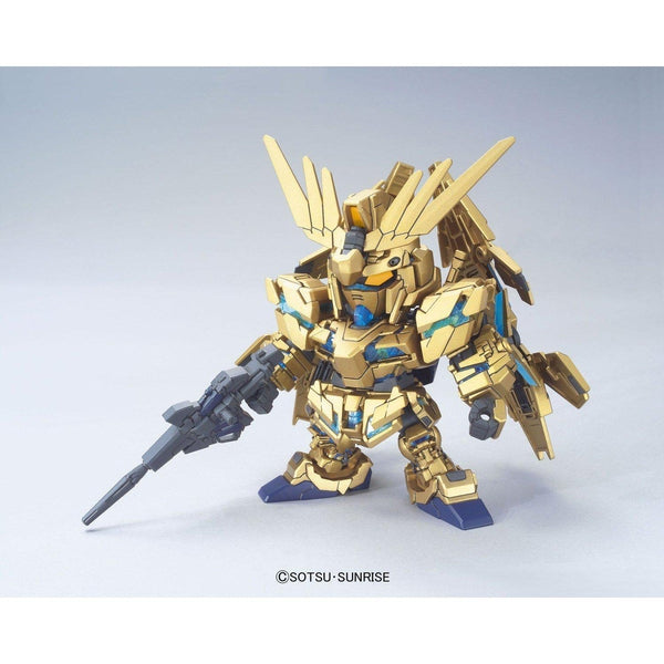 Bandai 1/144 SD BB MSV Unicorn Gundam 03 Phenex RX-0 front on pose