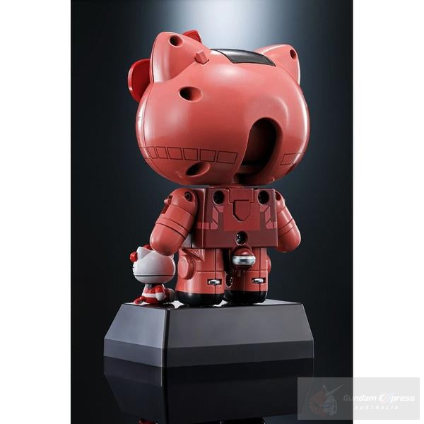 Chogokin Gundam Char's Zaku II Hello Kitty rear view.