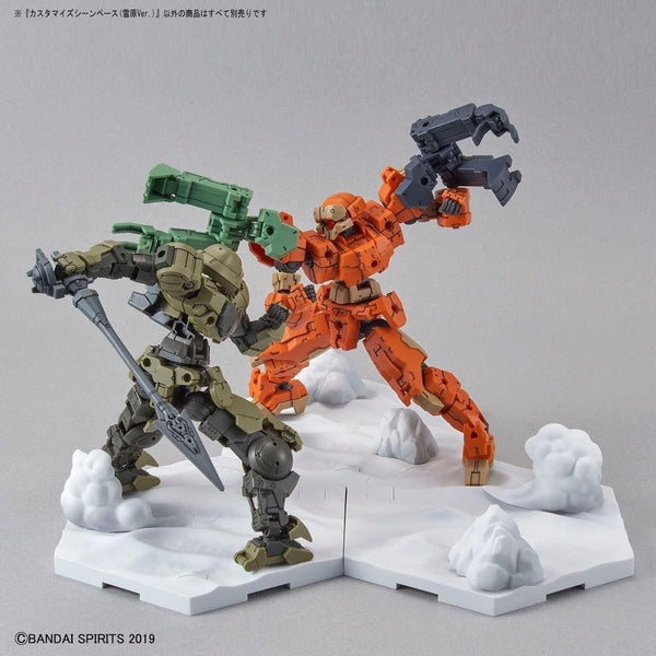 Bandai 1/144 30MM Customise Scene Base (Snowfield Ver.) example use 2