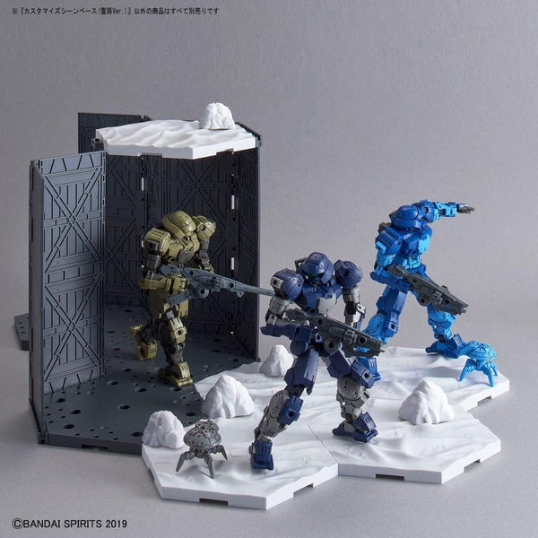 Bandai 1/144 30MM Customise Scene Base (Snowfield Ver.) example use 4