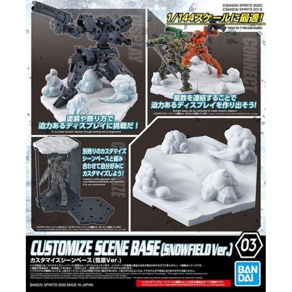 Bandai 1/144 30MM Customise Scene Base (Snowfield Ver.) package artwork