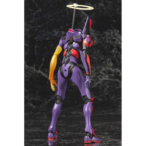 Kotobukiya Evangelion Unit-01 Test Type Awakening Ver. rear view. yellow arm