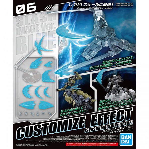 Bandai 1/144 30MM Customise Effect (Slash Image Ver. Blue) package artwork