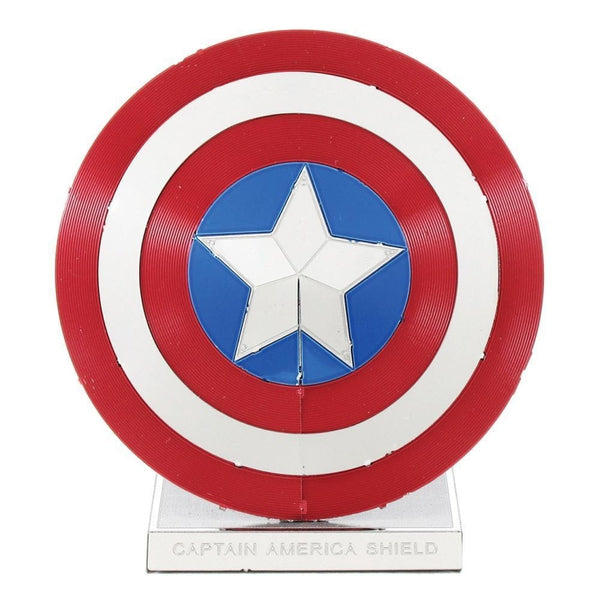 Metal Earth - Avengers - Captain America's Shield front on view.