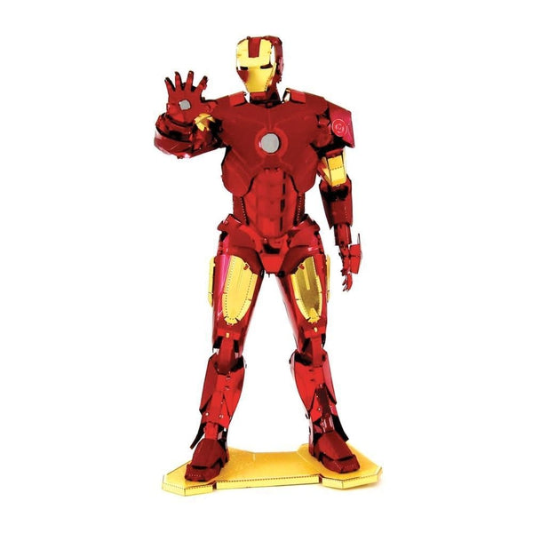 Metal Earth - Avengers - Iron Man (Mark IV) front on view.