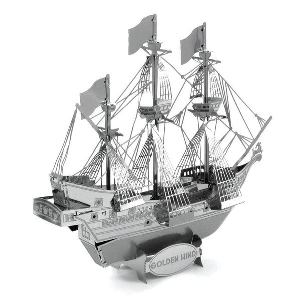 Metal Earth - Golden Hind side/ rear view.