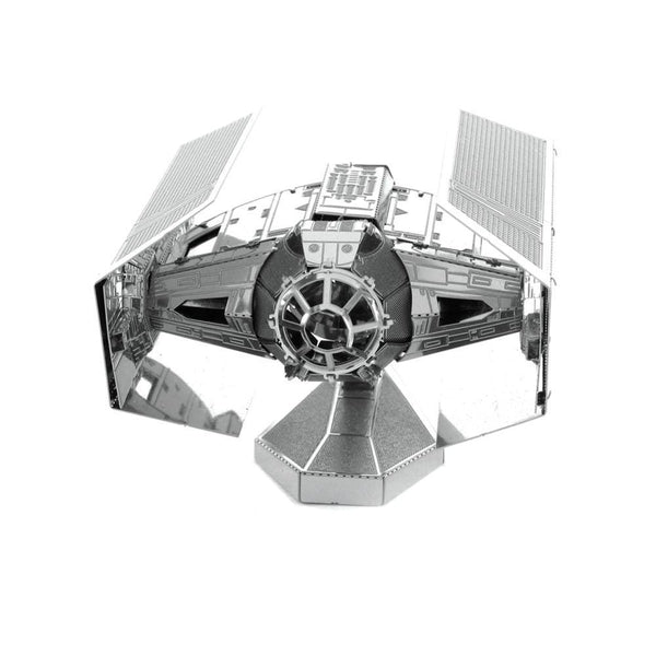 Metal Earth - Star Wars - Darth Vader's TIE Advanced X1 StarFighter front on view.