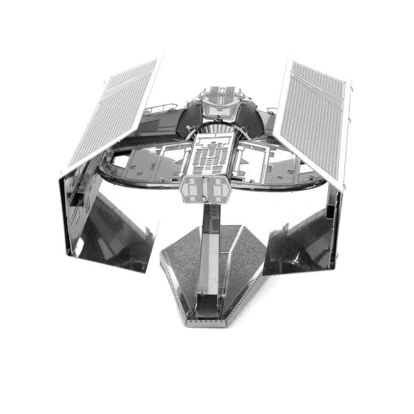 Metal Earth - Star Wars - Darth Vader's TIE Advanced X1 StarFighter rear view.