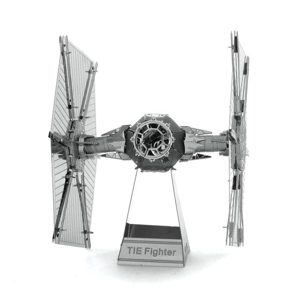 Metal Earth - Star Wars -TIE Fighter front on view.
