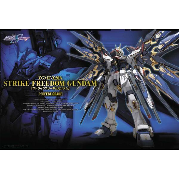 Bandai 1/60 PG Strike Freedom Gundam package art