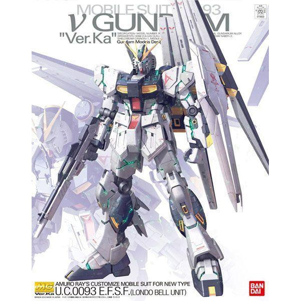 GUNDAM Bandai 1/100 MG NU Gundam Ver. Ka package art