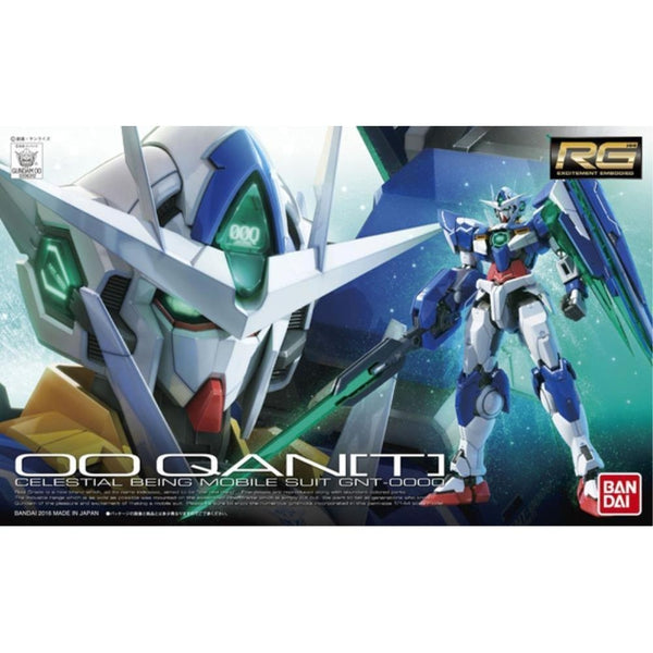 Bandai 1/144 RG 00 Qan[T] Celestial Being Mobile suit GNT-0000 package art