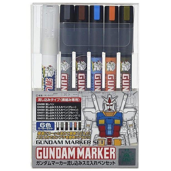 Gundam Marker Extra Fine Type for Panel Lines Set package artwork