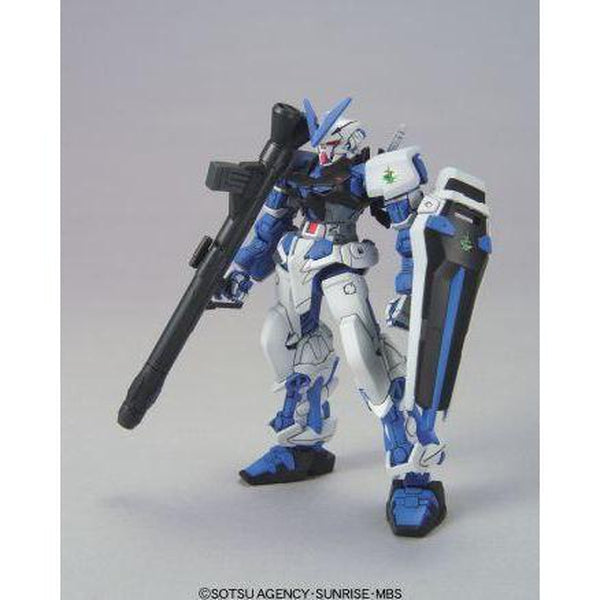 Bandai 1/144 HG Gundam Astray Blue Frame front on pose with weapons
