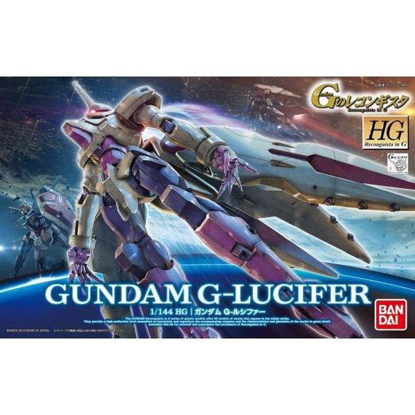 Bandai 1/144 HG Gundam G-Lucifer package art
