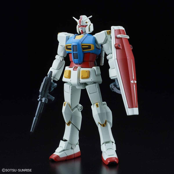 Bandai 1/144 HG G40 Industrial Design Ver. front on view. with weapons