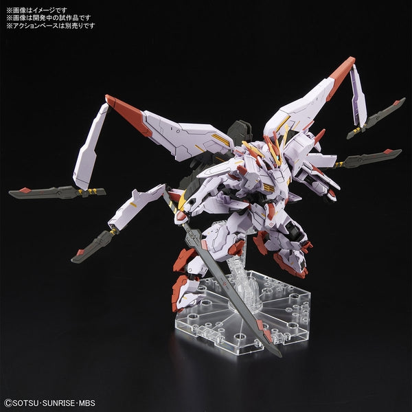 Bandai 1/144 HGIBO Gundam Marchosias action pose with 4 daggers