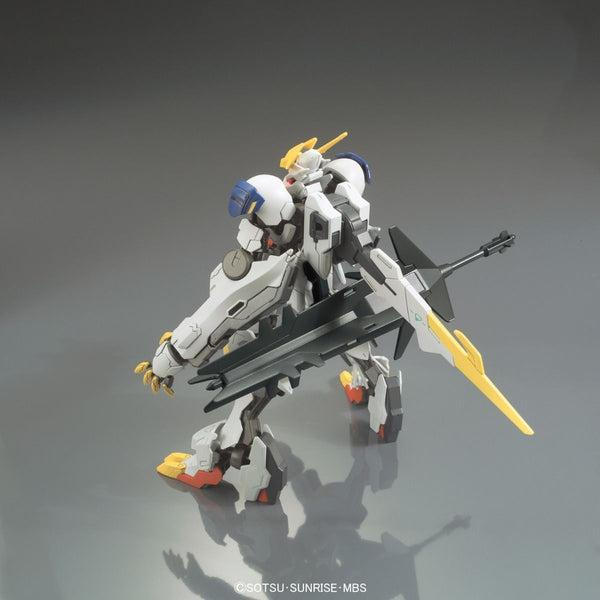 Bandai 1/144 HG Gundam Barbatos Lupus Rex action pose rear weapons