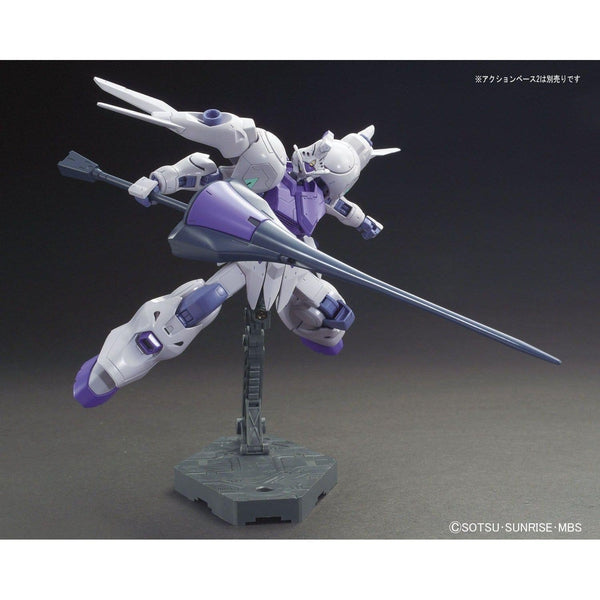 Bandai 1/144 HG IBO Gundam Kimaris action pose with lance
