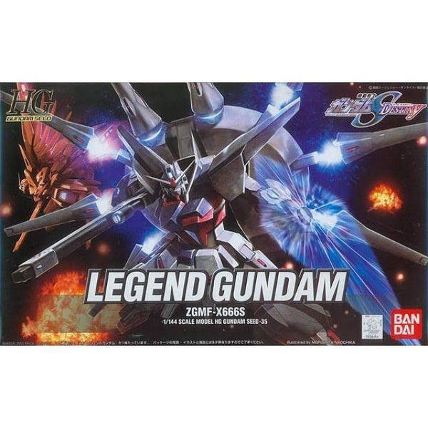 Bandai 1/144 HG ZGMF-X666S Legend Gundam package art