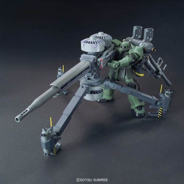 Bandai 1/144 HG Zaku II + Big Gun (Gundam Thunderbolt ) with weapon