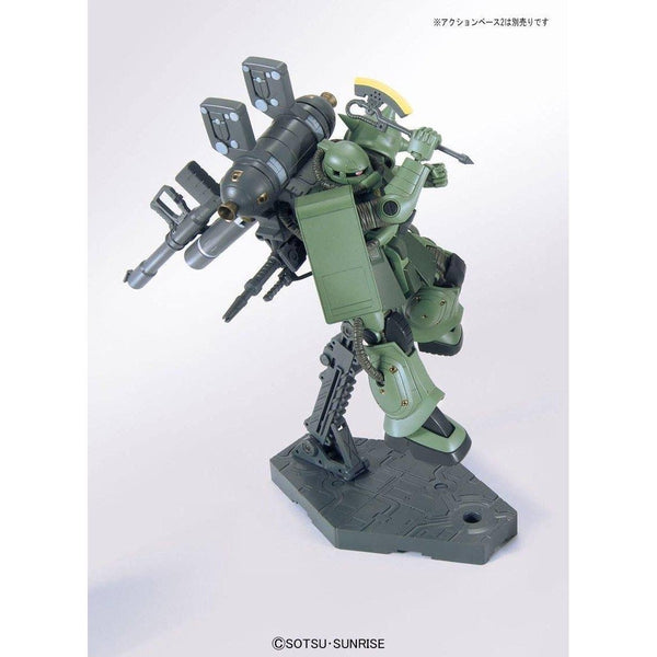 Bandai 1/144 HG Zaku II + Big Gun (Gundam Thunderbolt ) action pose rear view