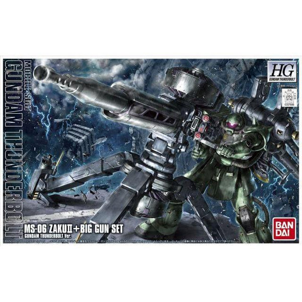 Bandai 1/144 HG Zaku II + Big Gun (Gundam Thunderbolt ) package art