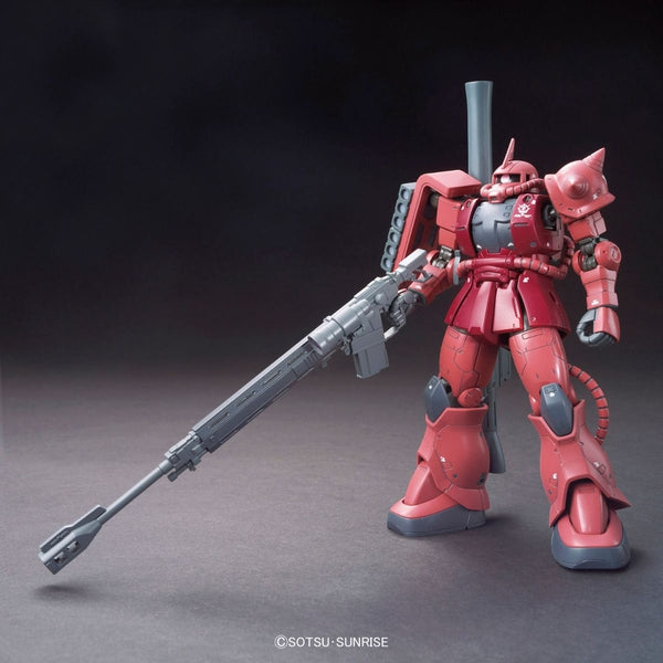 Bandai 1/144 HG Char Aznable's MS-06S Zaku II (Origin) front view anti ship rifle