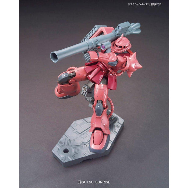Bandai 1/144 HG Char Aznable's MS-06S Zaku II (Origin) with weapon bazooka