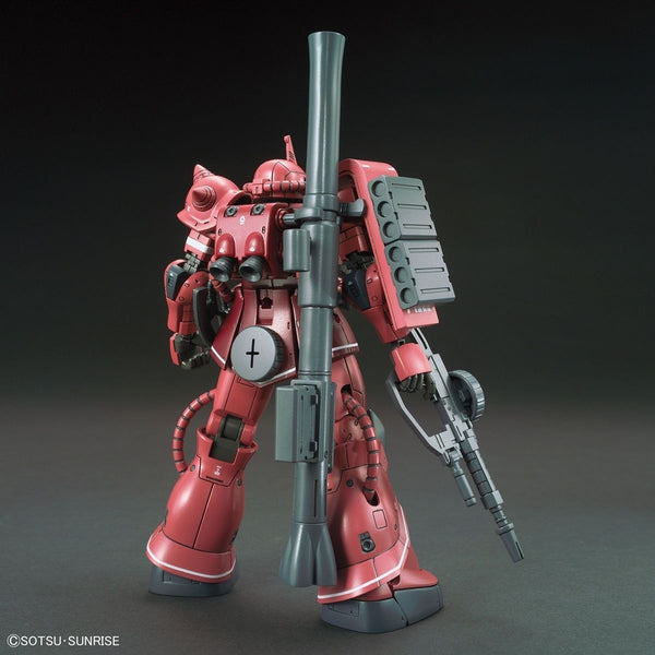 Bandai 1/144 HG Zaku II Red Comet Ver rear view with weapon