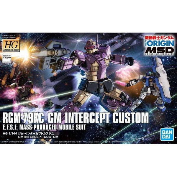 Bandai 1/144 HG RGM-79KC GM Intercept Gundam package art