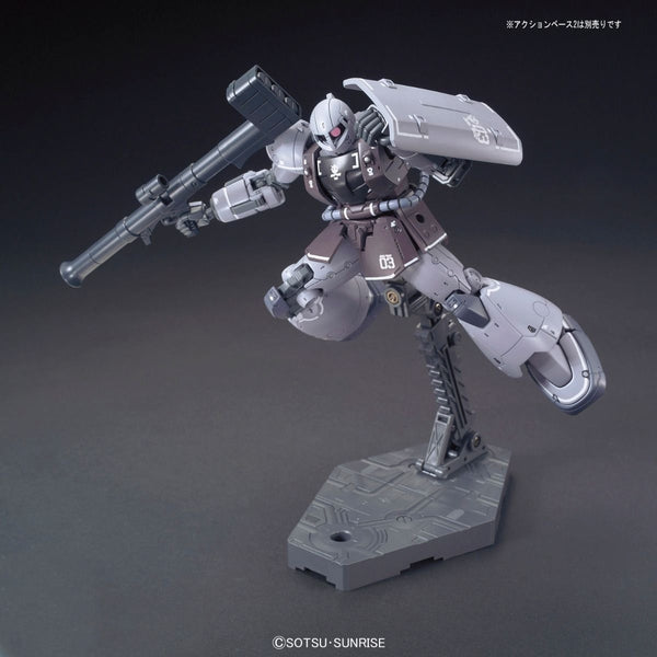 Bandai 1/144 HG YMS-03 Waff action pose with weapon.  2