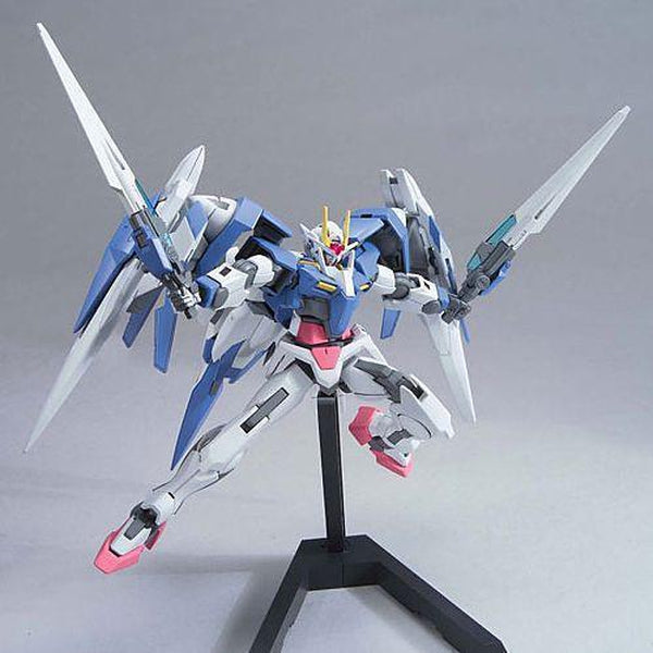 Bandai 1/144 HG 00 Raiser (Designer's Colour) dual sword pose
