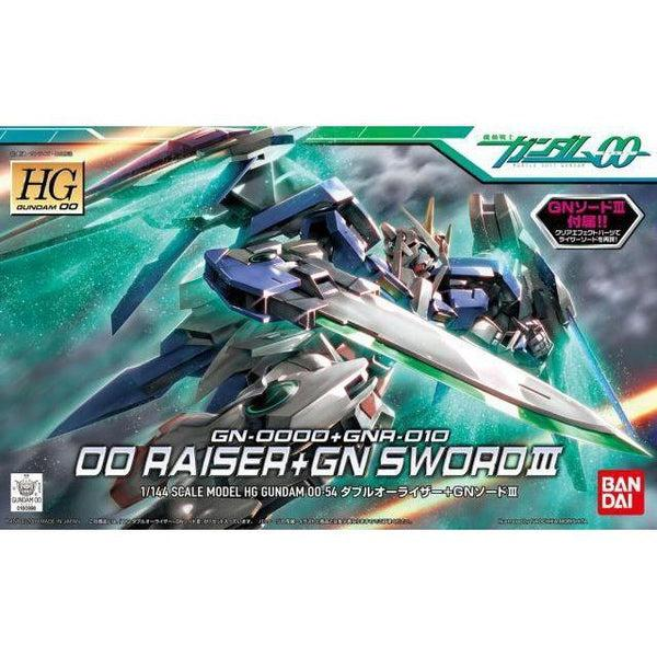 Bandai 1/144 HG 00 Raiser + GN Sword III package art