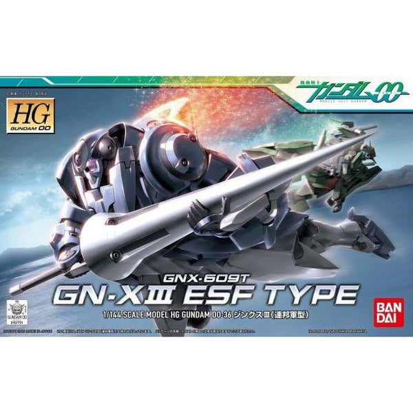 Bandai 1/144 HG00 GNX-609T GN-X III ESF Type package art
