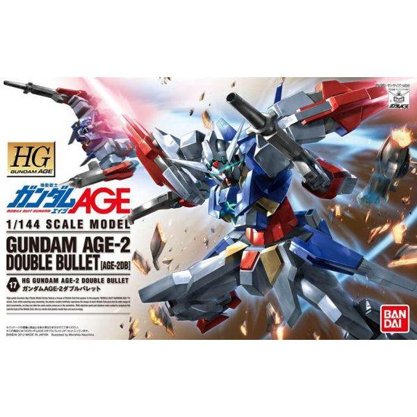 Bandai 1/144 HG Gundam Age-2 Double Bullet package artwork